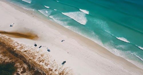 Drone Shot of a Beautiful Beach