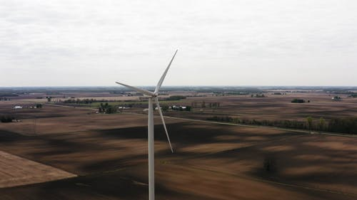 Vertical Wind Turbines In A Large Field