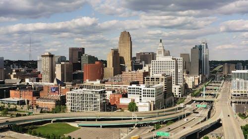 Drone Footage Of A Metropolitan City