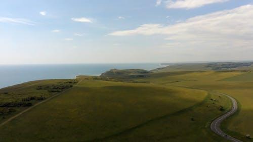 Drone Footage of Green Fields