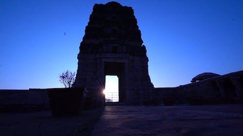A Shot of a Temple on a Twilight Sky