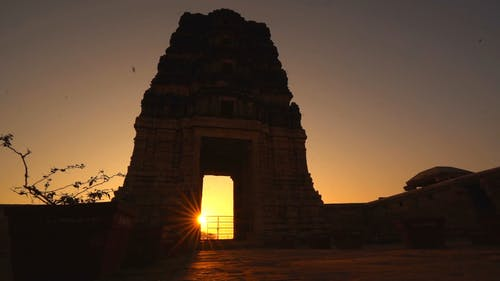 A Shot of a Temple during Golden Hour