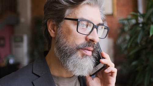 Man Talking on His Smartphone