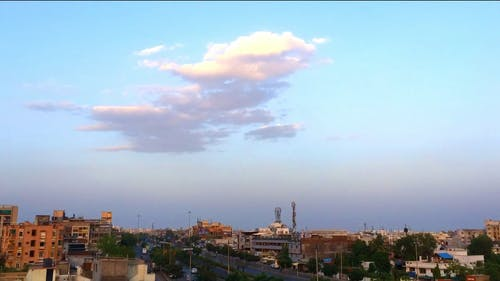 Clouds Above The City In Time Lapse Video