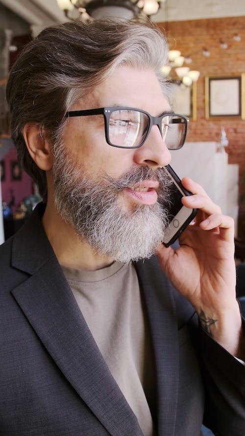 Man Talking on the Phone