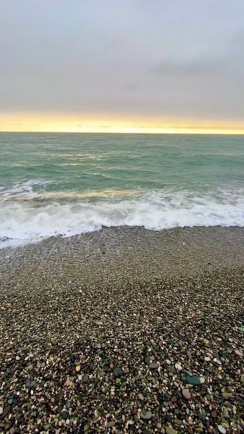 Strong Waves Hitting Shore