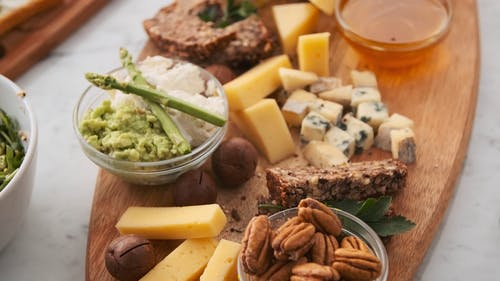Breads and Assorted Cheese platter