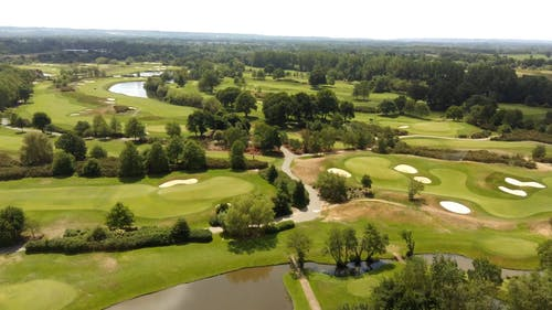 Aerial Shot of Gold Course