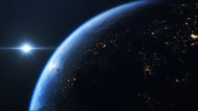 Planet Earth In Close Up View