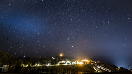 Time Lapse Footage of Starry Sky