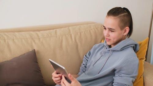 Boy Having a Video Call