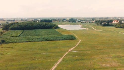 Drone Footage Of Fields