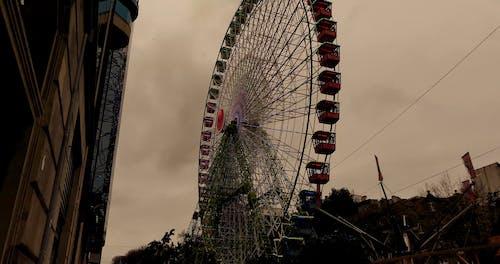 Footage of a Ferris Wheel