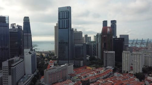 Aerial Shot of High Rise Buildings