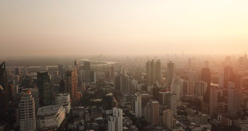 Drone Footage of City Buildings