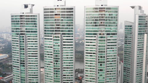 Drone Footage of Tall Buildings