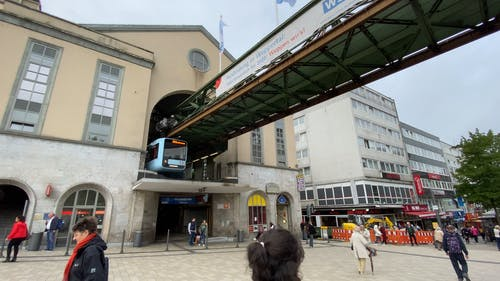 A Video of a Suspension Railway and Floating Tram