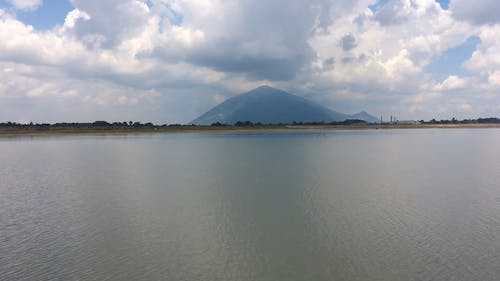 Footage of a Lake and a Mountain
