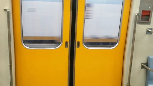 Yellow Train Door