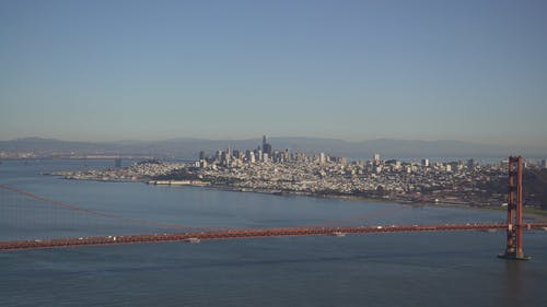 An Aerial Footage of the Golden Gate Bridge