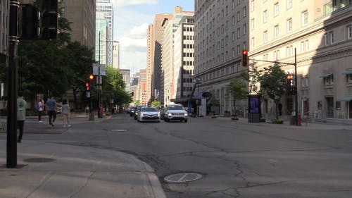 An Intersection in Downtown Montreal