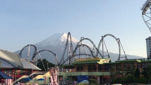 A Rollercoaster in Fuji-Q Highland in Japan