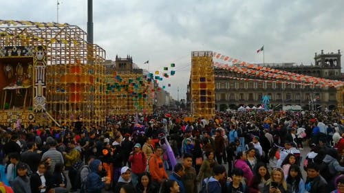 People Attending the Festival Day of the Dead