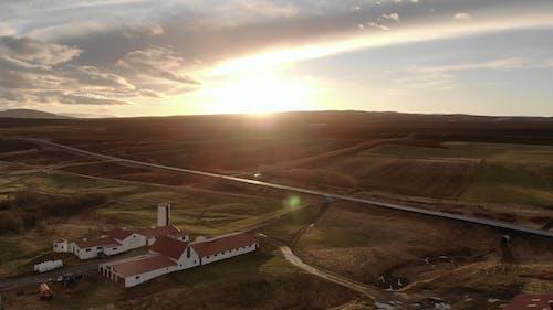 Drone Footage Of A Wide Open Field