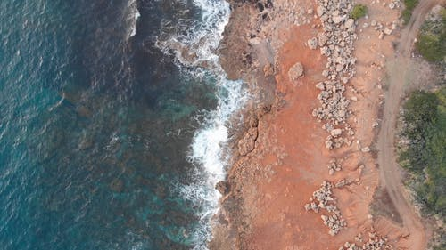 An Aerial Footage of a Rocky Coast