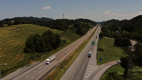 A Highway Built Across Hills And Valleys