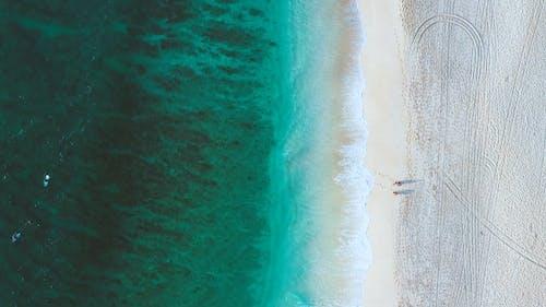 Beach Waves Rushing To Shore