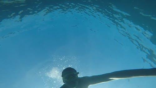 Man Snorkeling Underwater