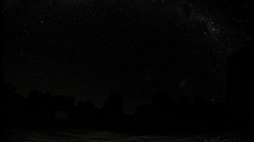 Time Lapse of a Starry Night Sky in the Outdoors