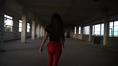 Video Of Woman Running In Abandoned Building