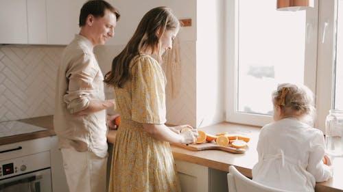 A Family Bonding Over Food