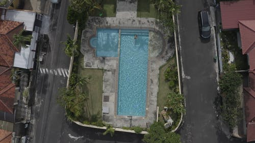 Bird's Eye View Of Swimming Pool During Daytime