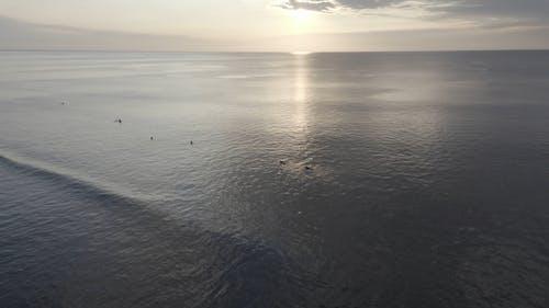 Video Of Ocean During Golden Hour