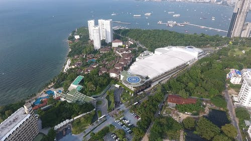 Aerial View Of Pattaya Exhibition Hall In Thailand