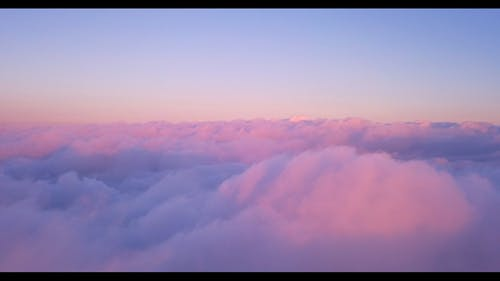 Scenic Footage Of Sea Of Clouds