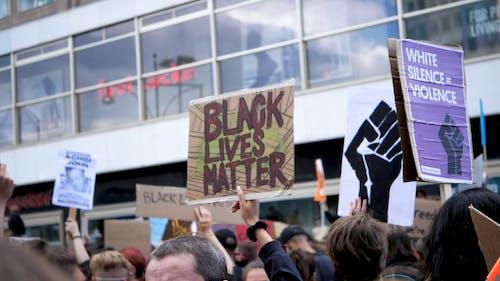 Black Lives Matter Protestor on the Street