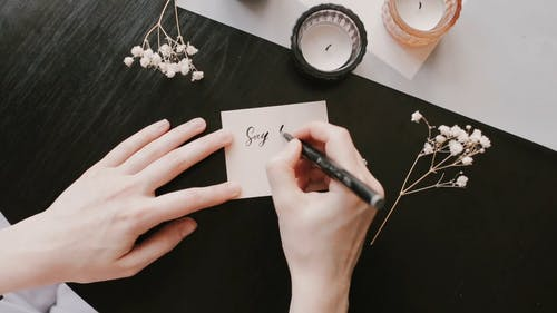 Person Doing Calligraphy