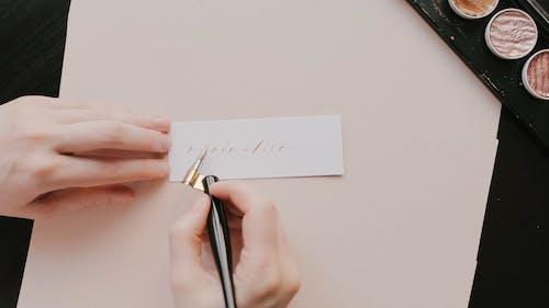 Person Using an Oblique Pen