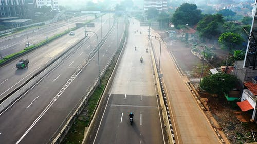 Drone Footage Of Expressway During Daytime