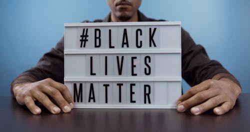Man With a Black Lives Matter Sign
