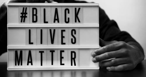 Person With a Black Lives Matter Sign
