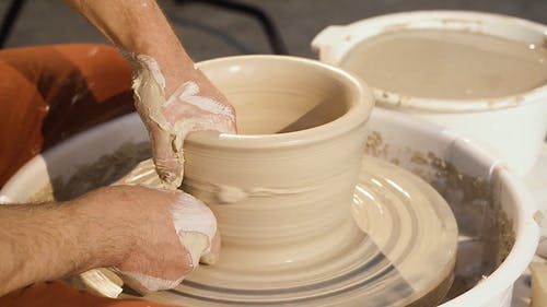 Video Of Person Working On Pottery Business