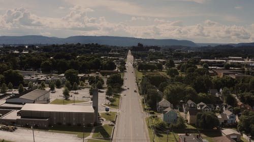 Drone Footage of a Town