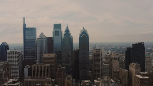 Drone Footage of Cityscape