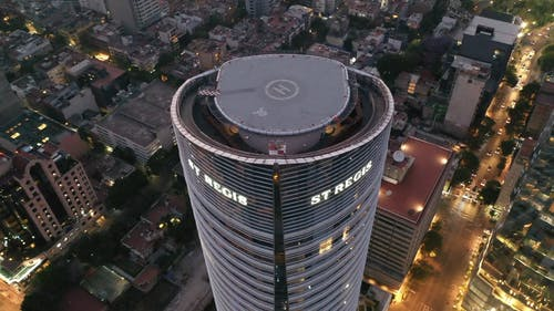 An Aerial Footage of the Freedom Tower in Mexico