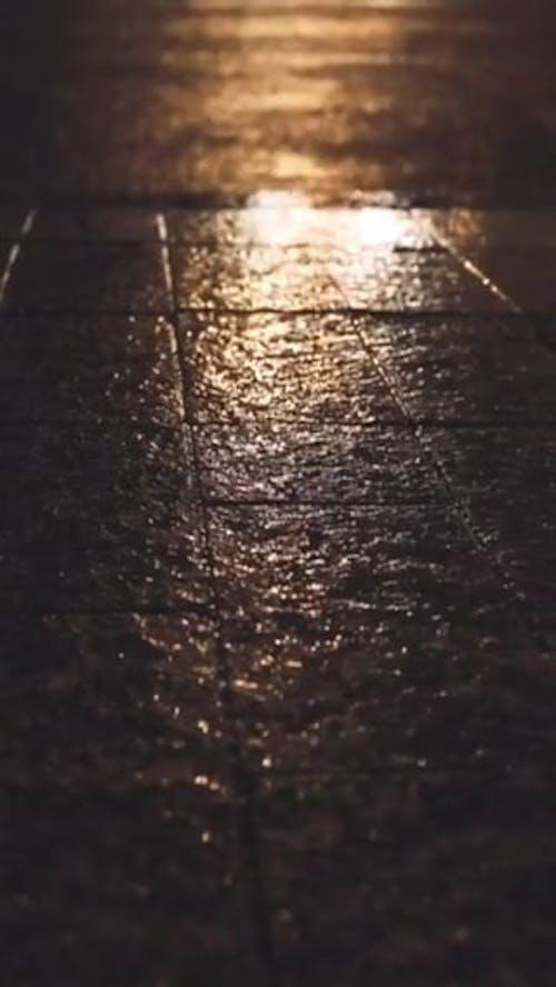 Man Crossing The Street At Night
